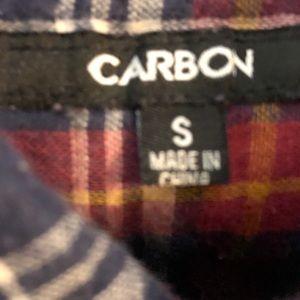 Carbon Shirts - Short sleeve plaid shirt